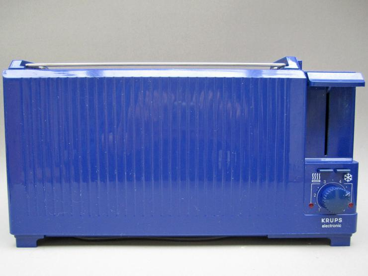 Krups Toaster 115 A blau Brötchenaufsatz regelbar Langschlitz 115A
