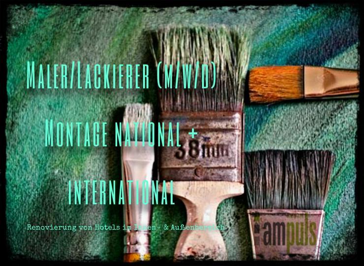 Maler/Lackierer (m/w/d) | Montage national + international