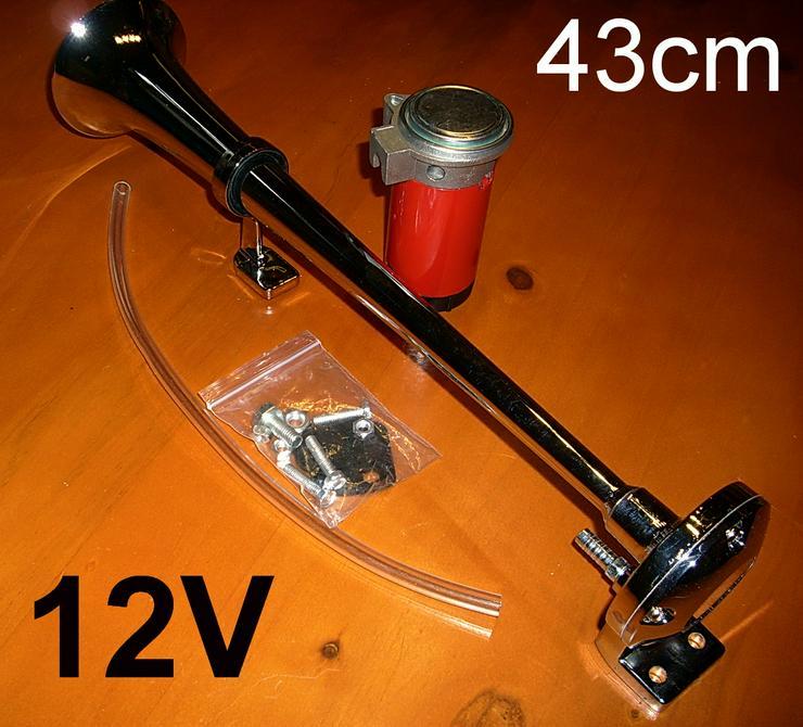 Biete ein Singnalhorn / Nebelhorn in Chrom mit Kompressor.