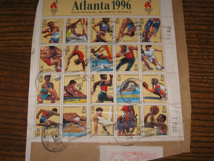 Briefmarken Set Olympia 1996 Atlanta Sommerspiele, 20 Stck.