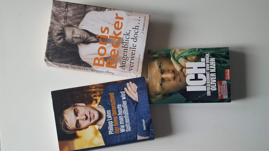 Spitzensportler : Boris Becker, Oliver Kahn und Phillip Lahm