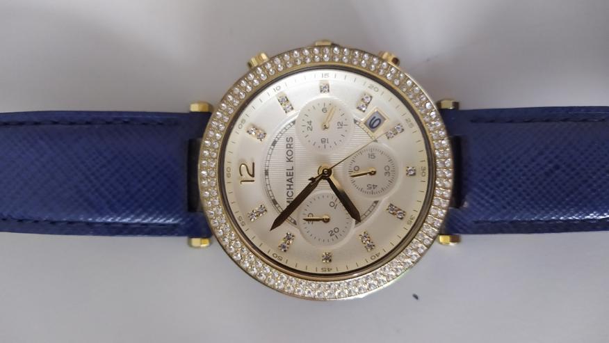 Michael Kors - Armbanduhr (Damen) - weiß/gold mit Steinen