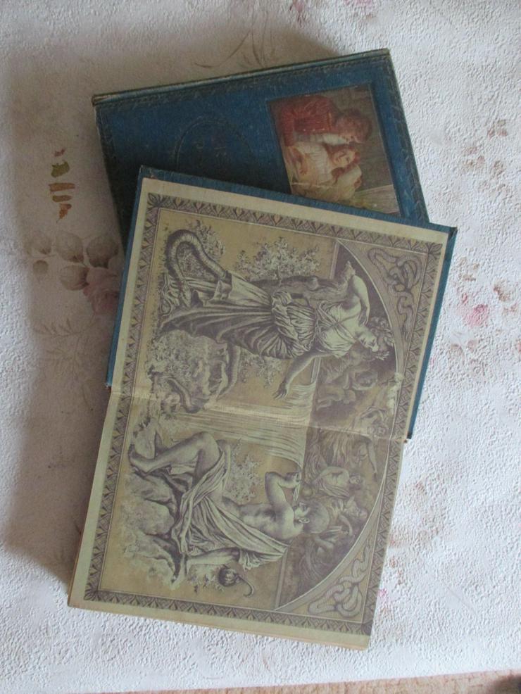 """Bild 3: """"Die Aerztin zu Hause"""", 2 antiquarische Bücher"""