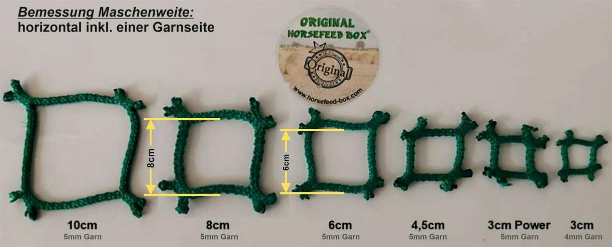 Bild 6: Futtersparnetz, Futterspartuch, Heunetz 1.5m bis 4m - quatratisch