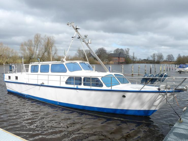 12m Stahlboot, Verdränger, Motorboot, Kajütboot, Hausboot, Wohnboot, LP Schleswig-Holstein