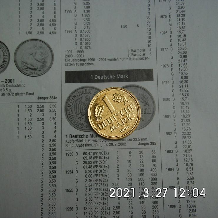 DM 1 Mark 1994 vergoldet - Deutsche Mark - Bild 1