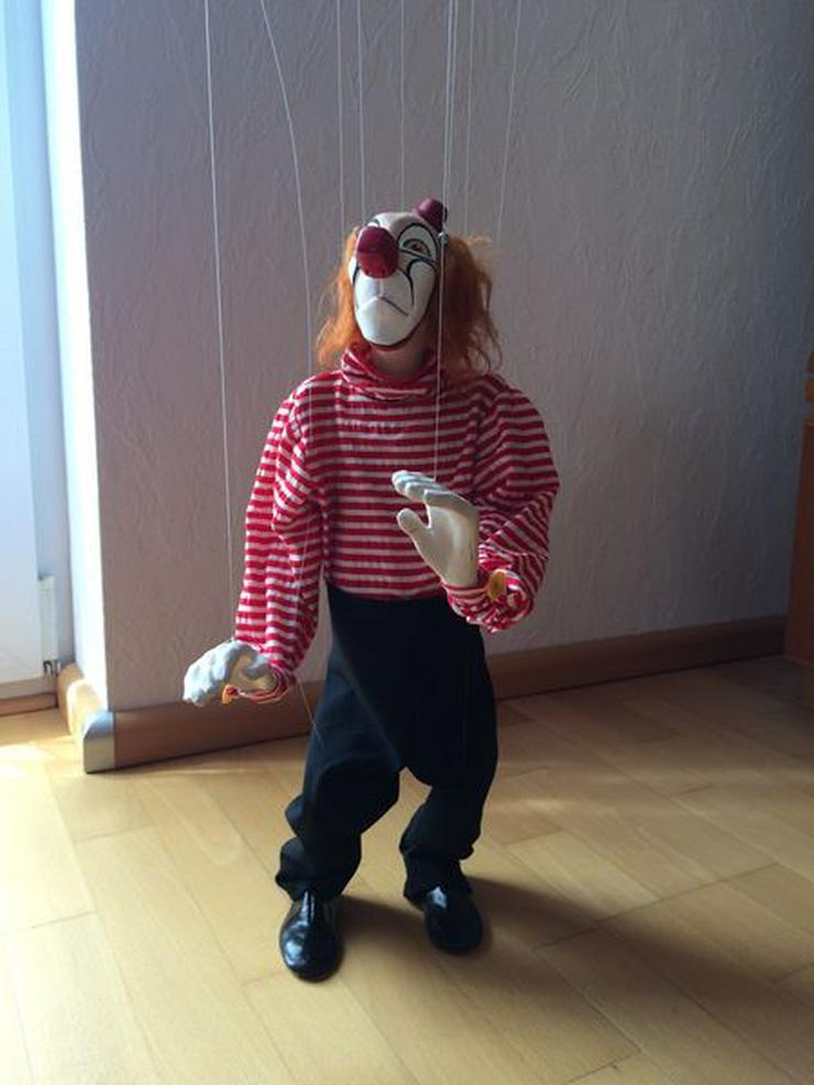 """UNBESPIELT Marionette """"Clown"""", Handarbeit"""