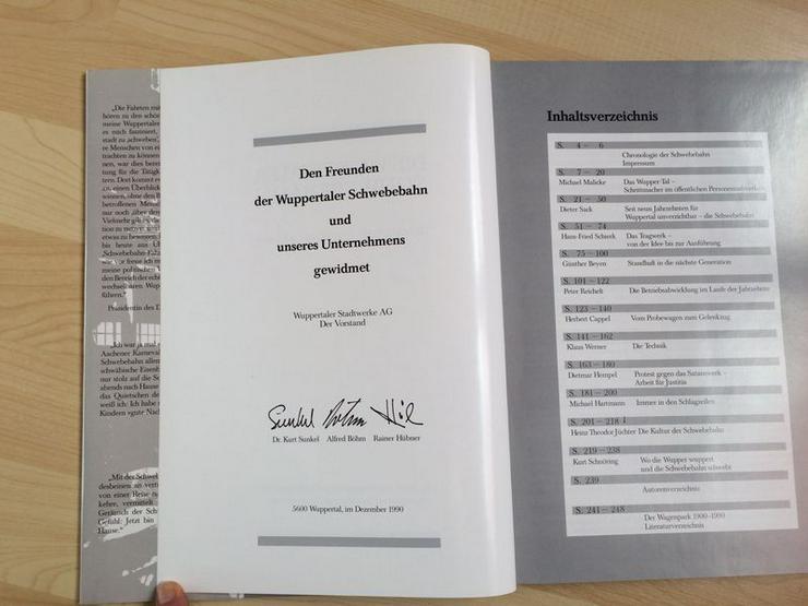 """Bild 6: UNGELESEN Text-/Bildband """"Die Wuppertaler Schwebebahn"""""""