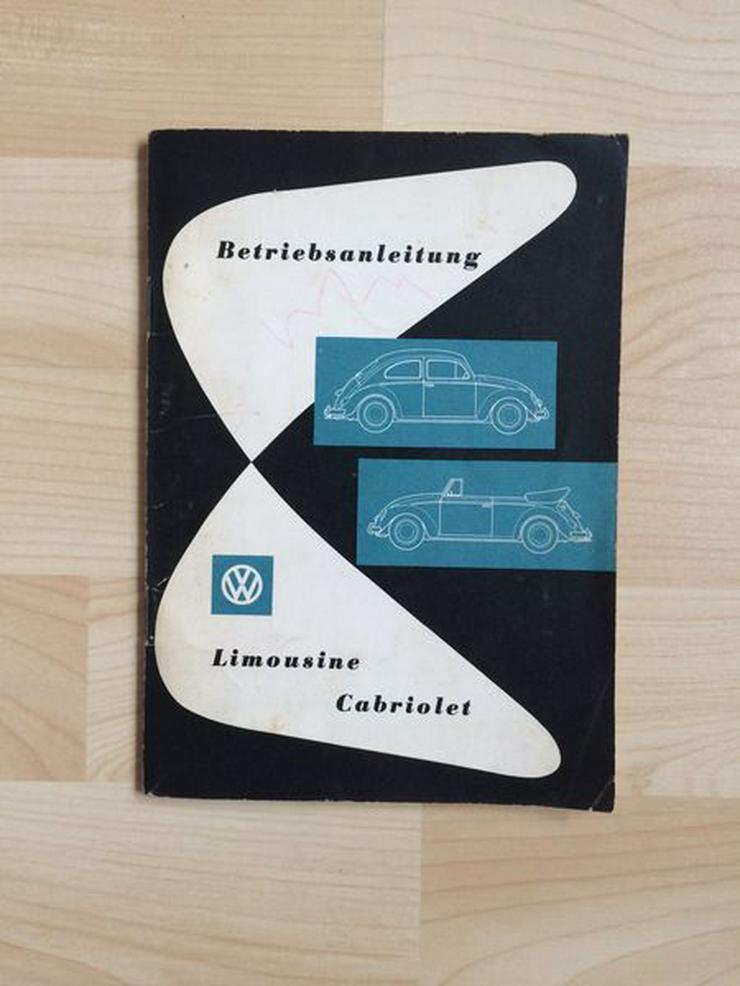 ORIGINAL + NEU Betriebsanleitung 08/1960 VW Limousine und Cabriolet