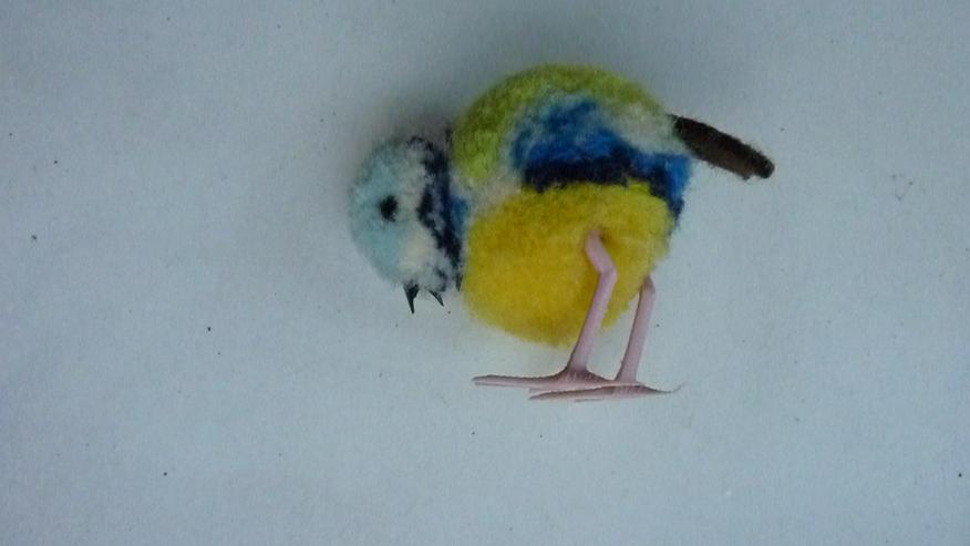 Bild 4: UNBESPIELT Original Steiff Woll-Miniaturvogel