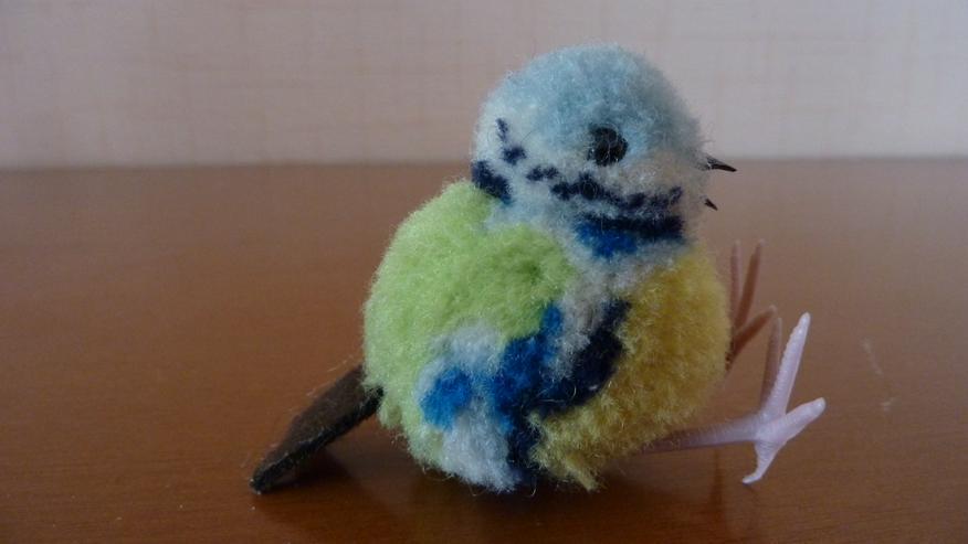 Bild 3: UNBESPIELT Original Steiff Woll-Miniaturvogel