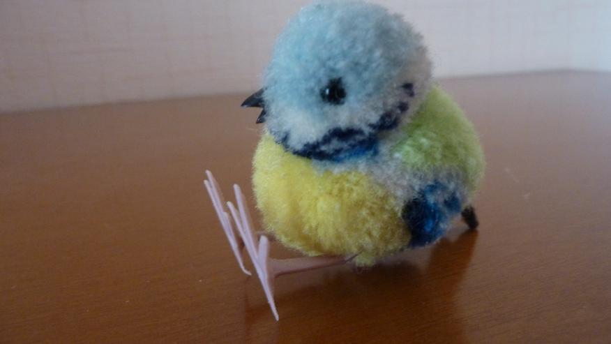 Bild 2: UNBESPIELT Original Steiff Woll-Miniaturvogel