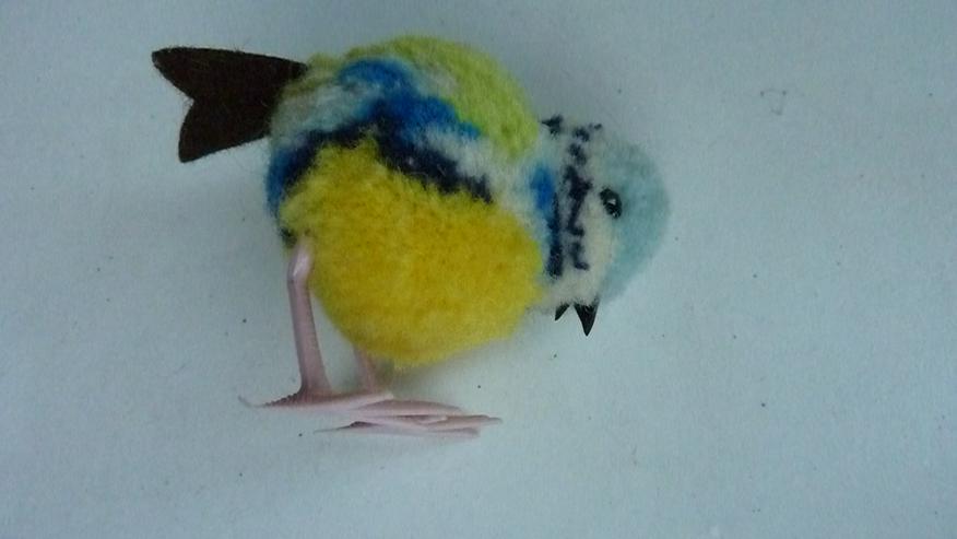 Bild 5: UNBESPIELT Original Steiff Woll-Miniaturvogel