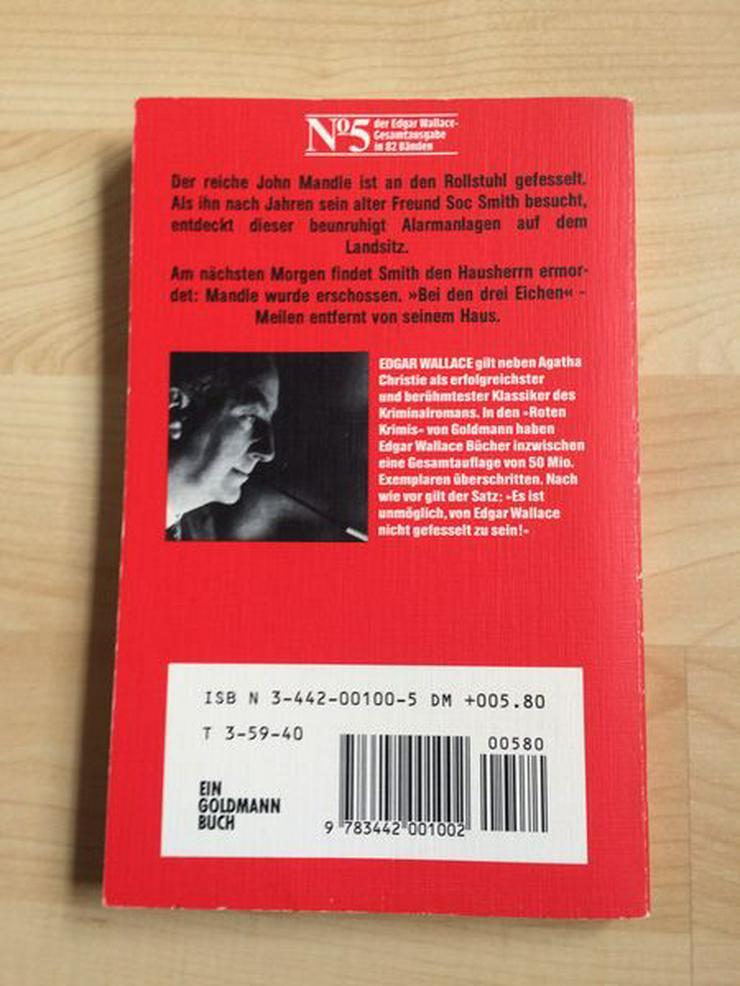 """Bild 3: Taschenbuch """"Bei den drei Eichen"""" v. Edgar Wallace"""