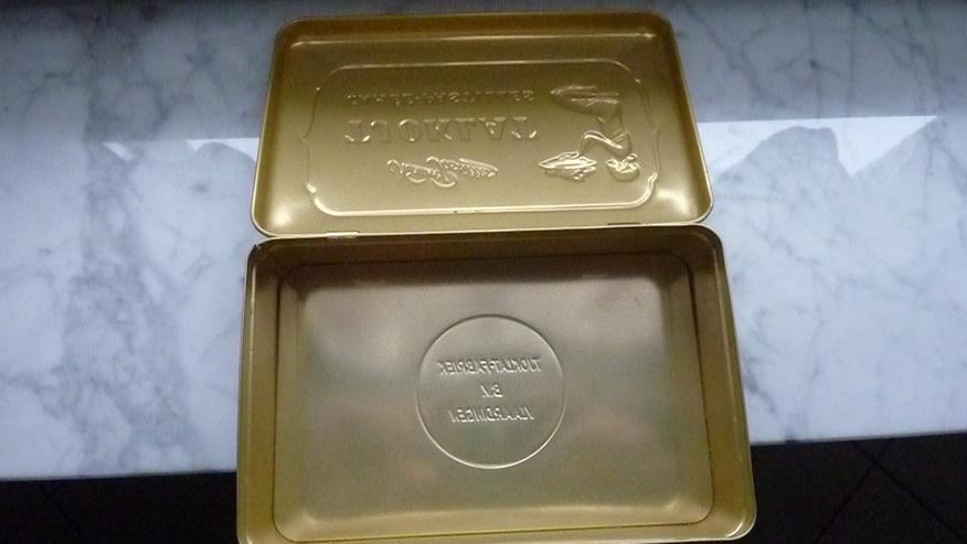 Bild 2: Tjoklat Schokoladen-Blechdose v. Anfang 1970er