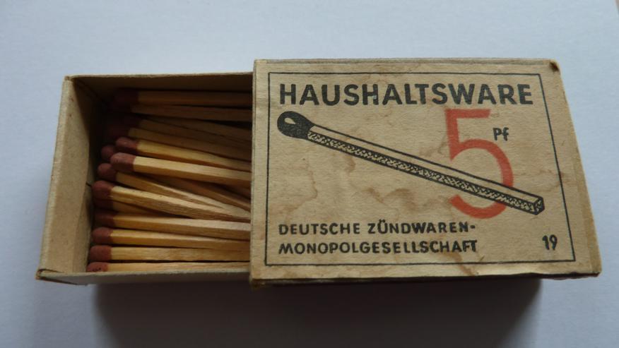 """Streichholzschachtel """"Deutsche Zündwarenmonopolgesellschaft"""" - Weitere - Bild 1"""