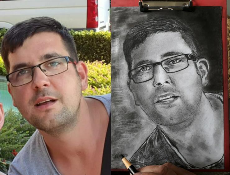 Zu Ostern ❤ Portraits handgezeichnet für Ihre Lieben / handgemaltes Porträt  Geschenkidee