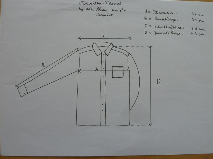 Bild 3: NEUWERTIG (Trachten-)Hemd, Gr. 116