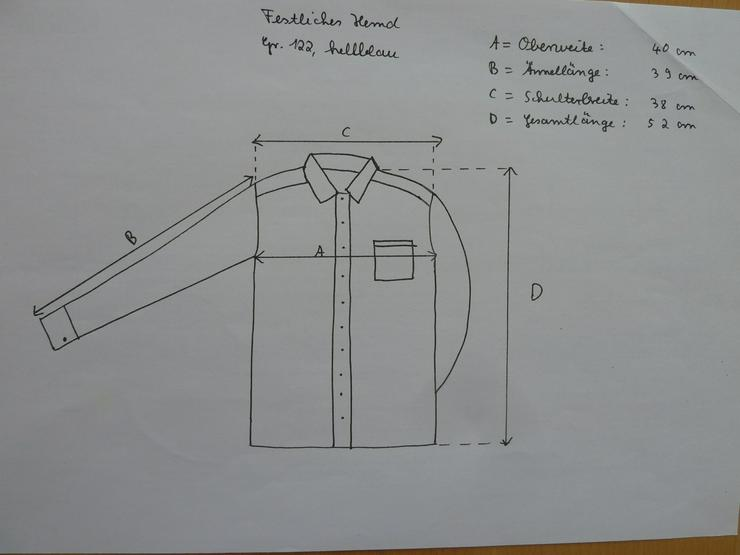 Bild 3: NEUWERTIG Hemd mit Fliege Gr. 122