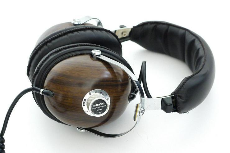 Manta 7000 Kult - Stereo-Kopfhörer 70er Retro Vintage Holzdesign Japan