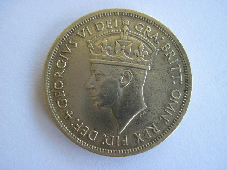 Bild 2: 2 Shillings 1949 British West Africa, Alte Münze, United Kingdom, Kolonien, Georg VI.