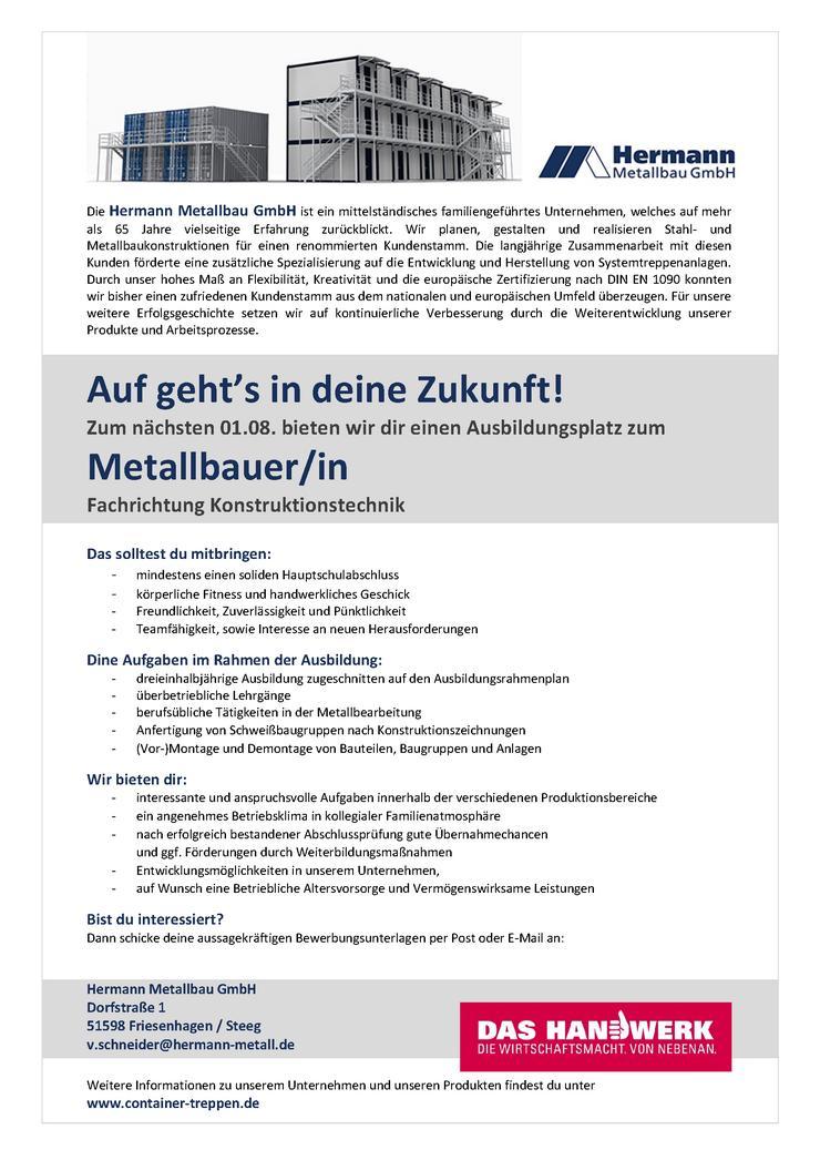 Bild 3: Ausbildung zum Metallbauer (m/w/d)
