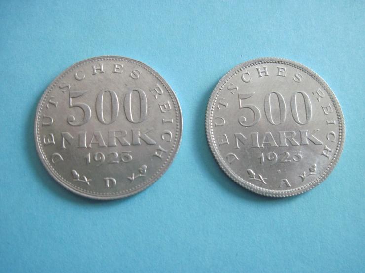 2 x 500 Mark 1923 A + D, J. 305  Weimarer Republik, Inflation