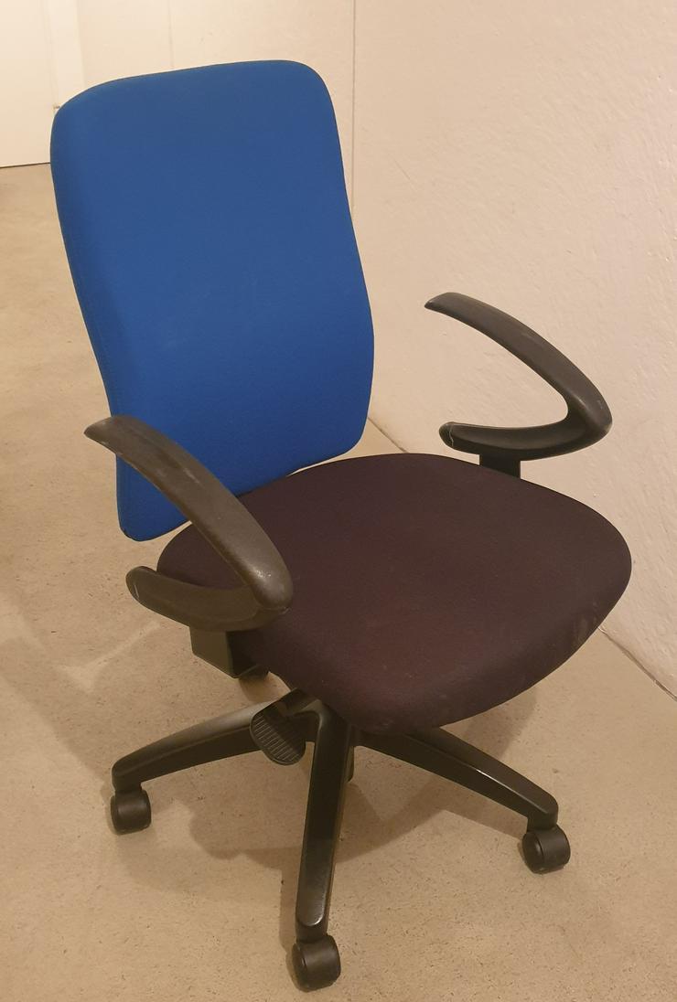Bürostuhl blau/schwarz, ergonomisch, hochwertig (NP >300EUR)