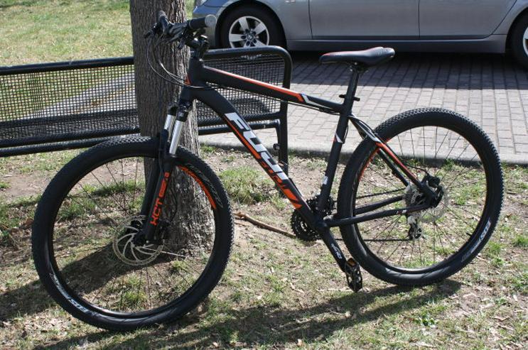 "Fuji Nevada 1.7 LTD 27.5 19 Zoll Rahmen 650B Hardtail MTB Mountainbike schwarz/orange Fahrrad 19"""