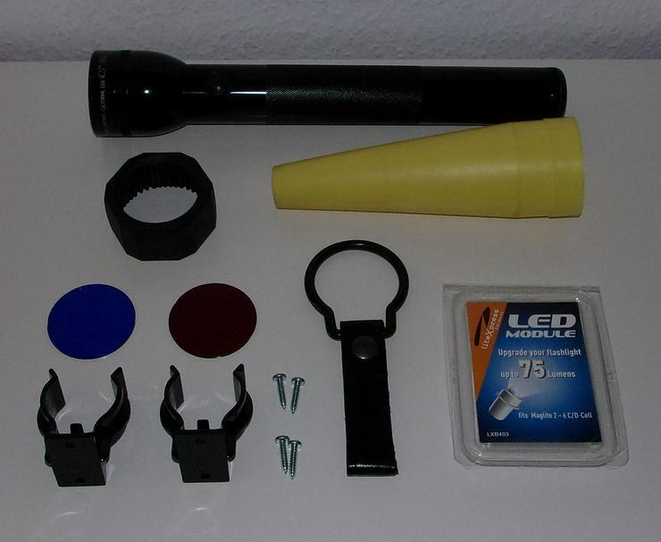 MAGLITE Set Konvolut mit 3 D Cell MAGLITE Taschenlampe, schwarz