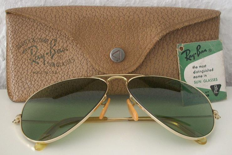 Ray-Ban (R) Bausch & Lomb Vintage Sonnenbrille - Original 1940er/1950er Jahre