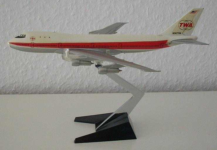 Boeing 747 TWA - Aero Mini Inc. USA / Japan - Vintage Metall-Modell