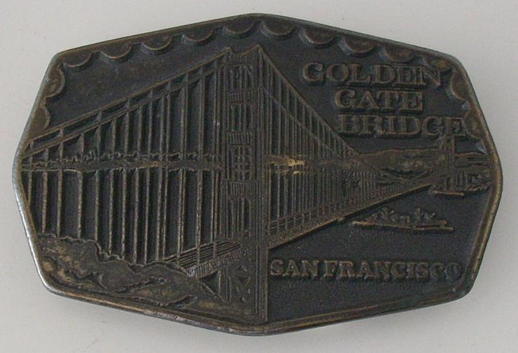 "Gürtelschnalle Belt Buckle ""Golden Gate Bridge - San Francisco"", 1974"