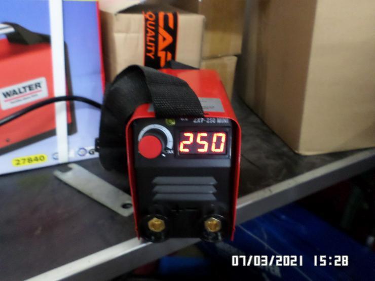 250 ampere mini Wig / E Schweißinverter mit Solarhelm/Schlauchpaket/Druckminderer ect.