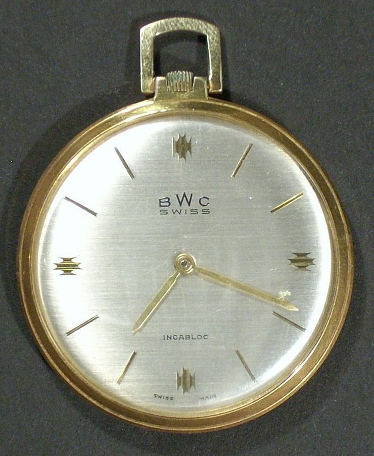 Taschenuhr BWC SWISS vergoldet Ø41mm