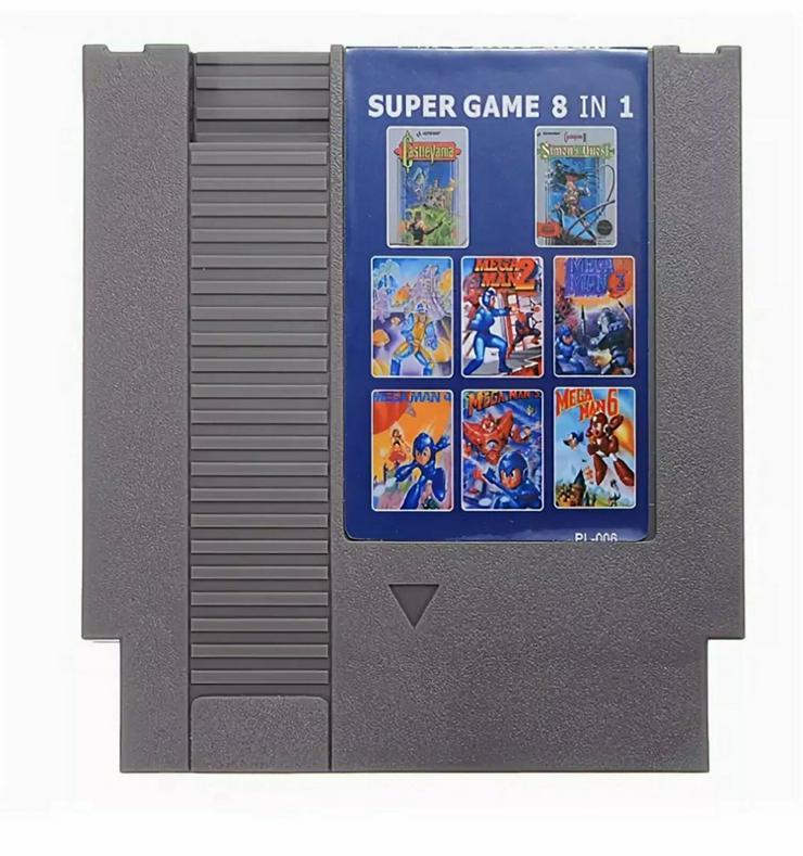 Super 8 in 1 Games Module für NES Castlevania 1&2+ Mega Man 1-6 - Weitere Games - Bild 1