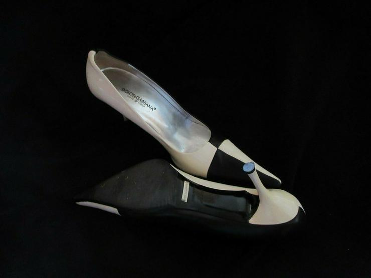 Schwarz-Weiße Dolce & Gabbana Schuhe; Größe 38
