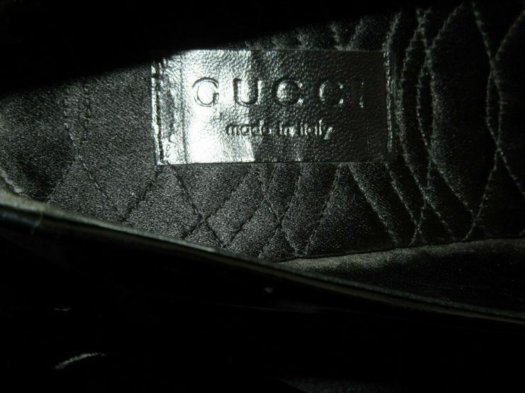 Bild 3:  Schwarze Gucci Schuhe; Größe 38 C