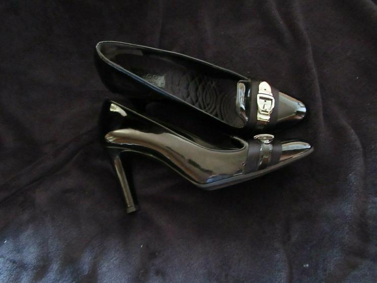Bild 6:  Schwarze Gucci Schuhe; Größe 38 C