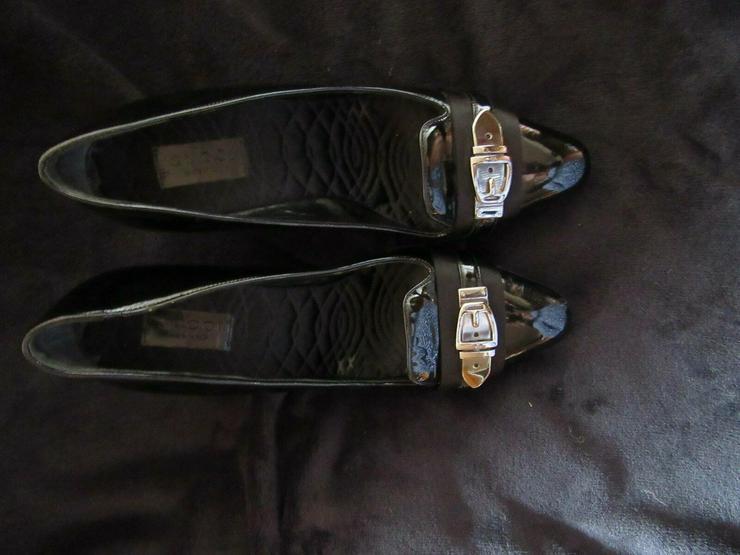 Schwarze Gucci Schuhe; Größe 38 C