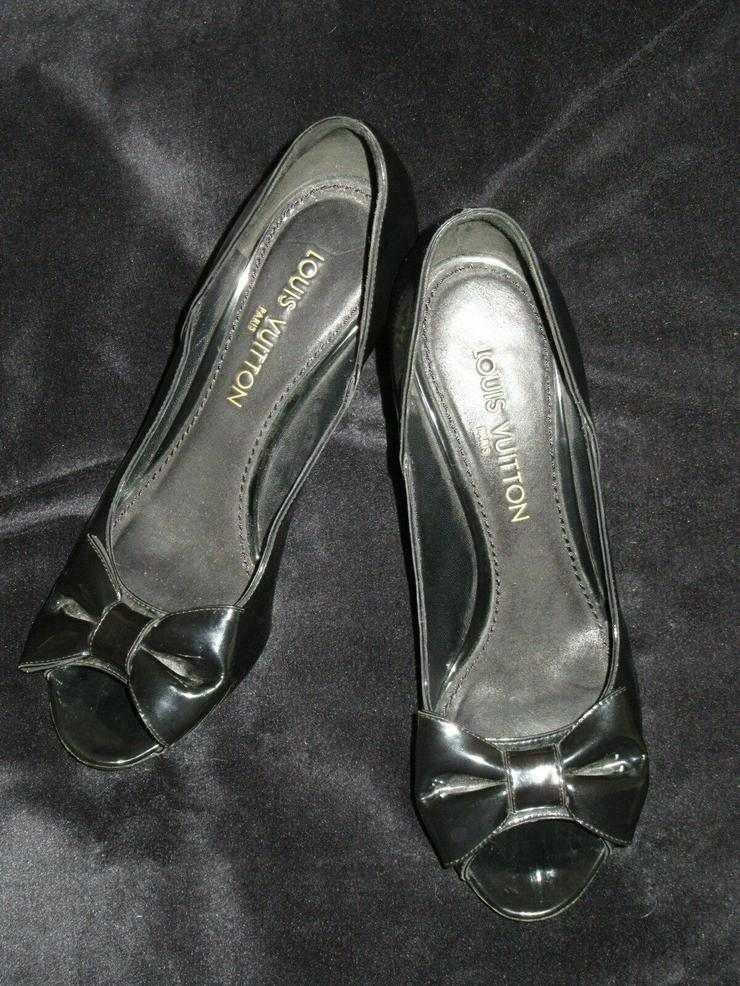Schwarze Louis Vuitton Schuhe Paris; Größe 38