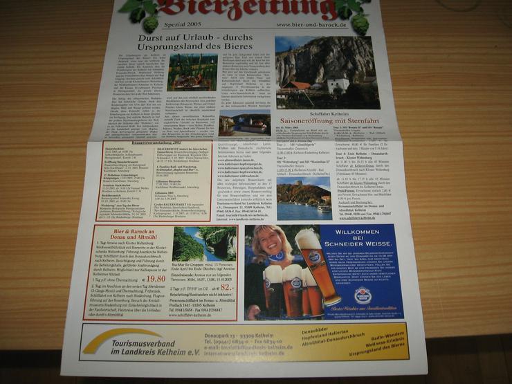 Bild 3: Bierzeitung, Ausgabe 2005, 15 Seiten, und Spezial 2005 Durst auf Urlaub – durchs Ursprungsland des Bieres;