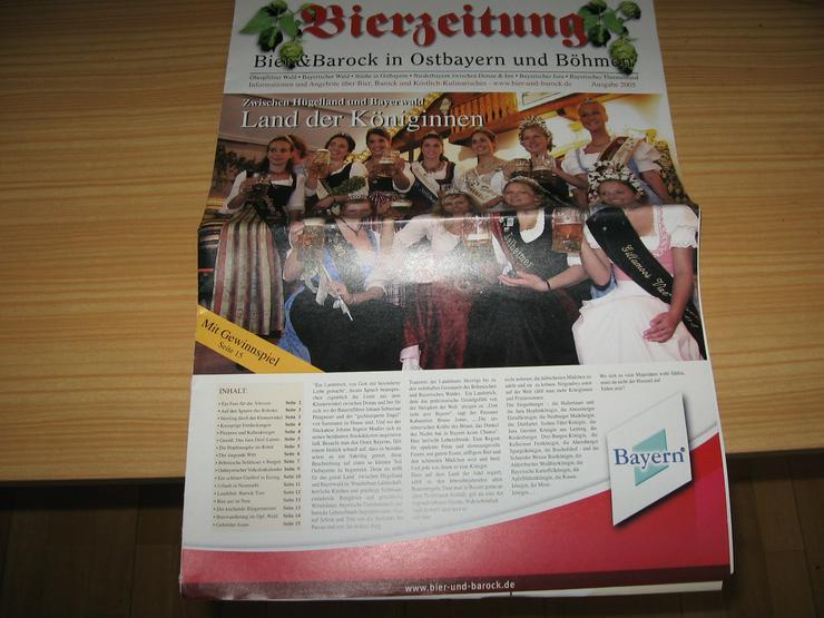 Bild 1: Bierzeitung, Ausgabe 2005, 15 Seiten, und Spezial 2005 Durst auf Urlaub – durchs Ursprungsland des Bieres;