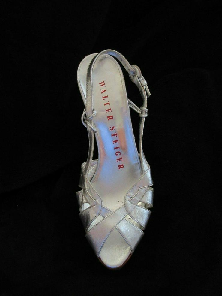 Silberne Walter Steiger Schuhe; Größe 38