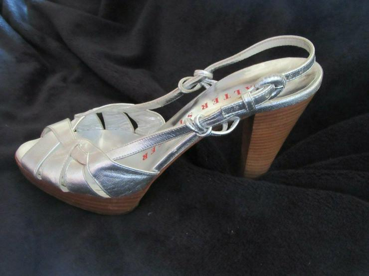 Bild 4:  Silberne Walter Steiger Schuhe; Größe 38