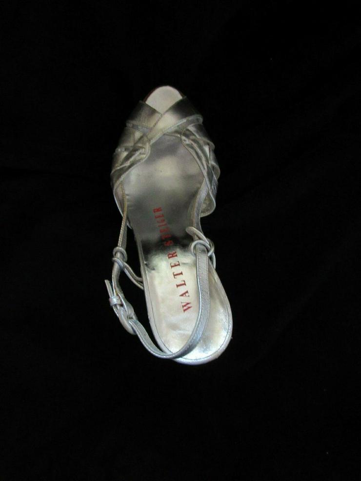 Bild 6:  Silberne Walter Steiger Schuhe; Größe 38
