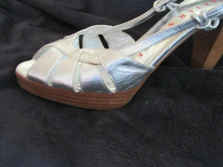 Bild 3:  Silberne Walter Steiger Schuhe; Größe 38