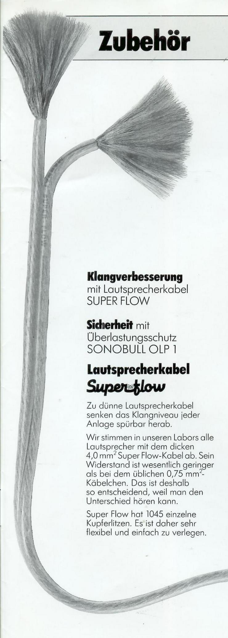 Suche: Super Flow-Lautsprecherkabel