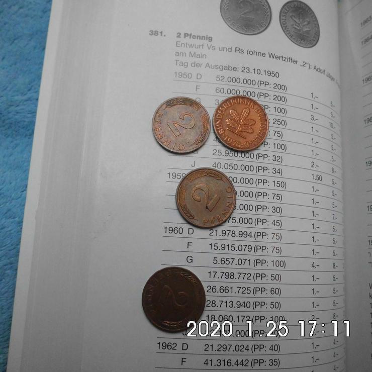 DM 2 Pfennig 1962 kompletter Satz CU - Deutsche Mark - Bild 1