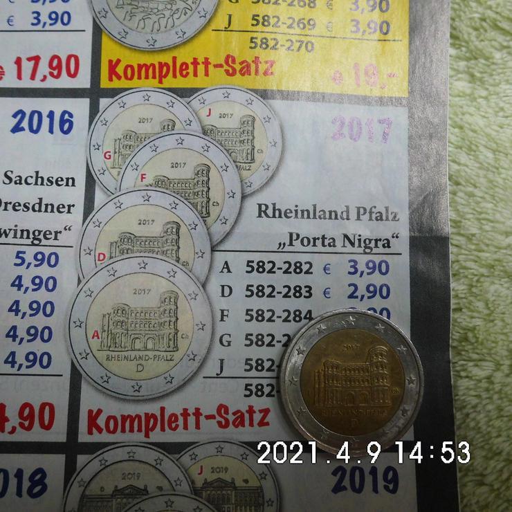2 Euro Rheinland Pfalz 2017 J Stempelfehler